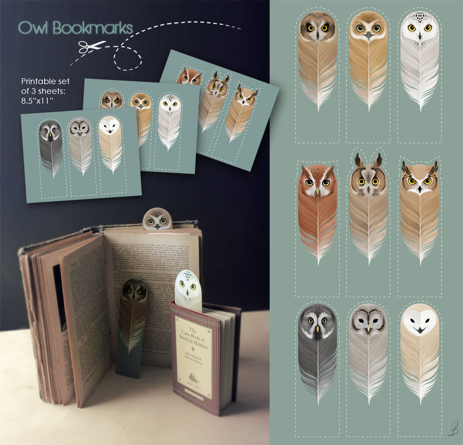 Free Printable Owl Bookmarks For Harry Potter Fans