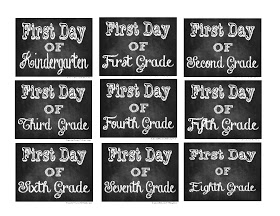 back to school printable chalkboard signs