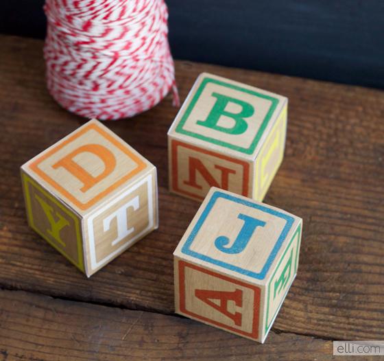 DIY Alphabet Blocks - Printables 4 Mom