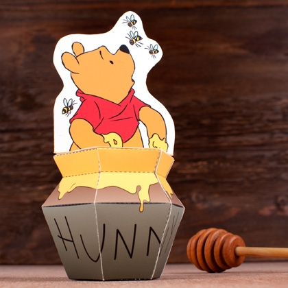 pooh printable winnie-the-pooh decor decorations nursery kids craft 3d toy printable free & Poohu0027s Hunny Pot Papercraft Printable - Printables 4 Mom