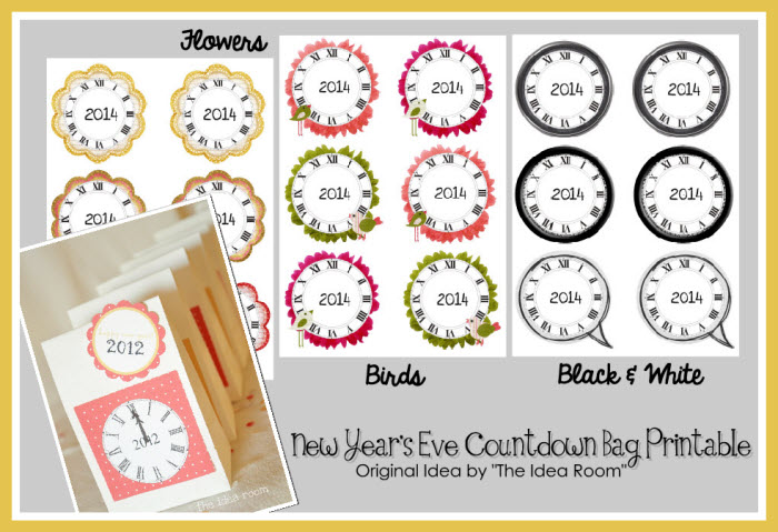 printable new year's eve coutdown bags party diy kids games activities ideas