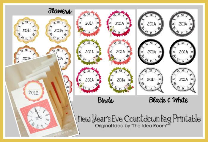New Year's Eve Countdown Bag Printables - Printables 4 Mom