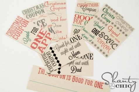 printable christmas coupons for gifts