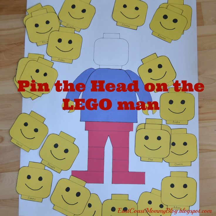Pin The Head On The Lego Man Printable Game Printables 4 Mom