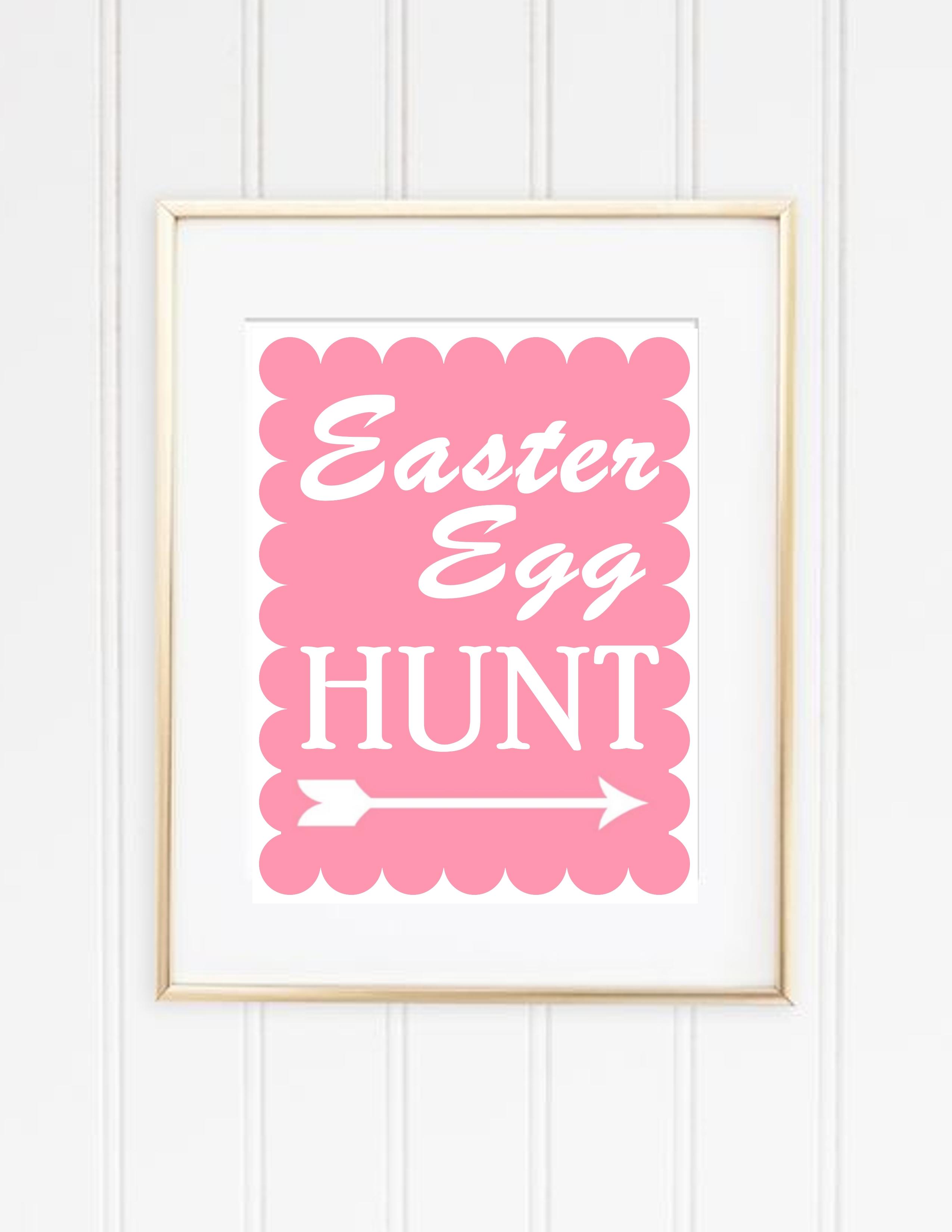 Easter Egg Hunt Printable Sign