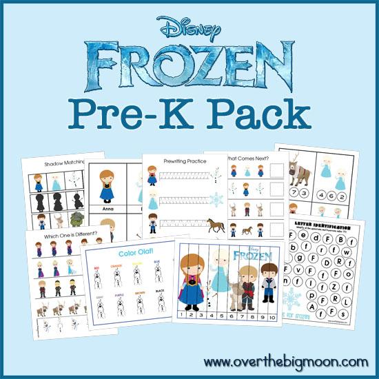 Frozen Pre K Printable Pack Printables 4 Mom