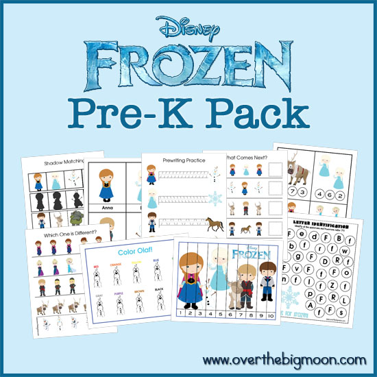 Frozen Pre-K Printable Pack