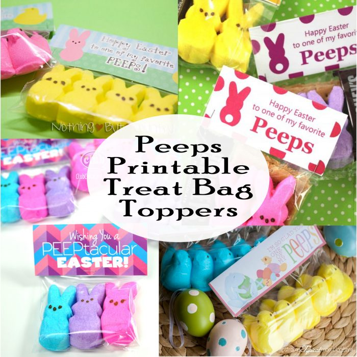 picture regarding Free Printable Treat Bag Toppers named Free of charge Peeps Printable Present Bag Topper - Printables 4 Mother