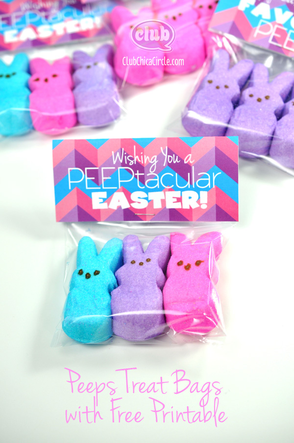 peeps free easter treat bag topper gift ideas frugal cheap