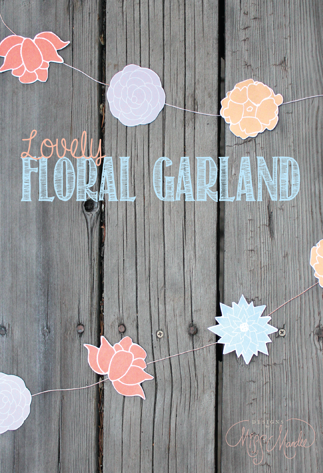 free floral garland printable flowers spring party bridal shower
