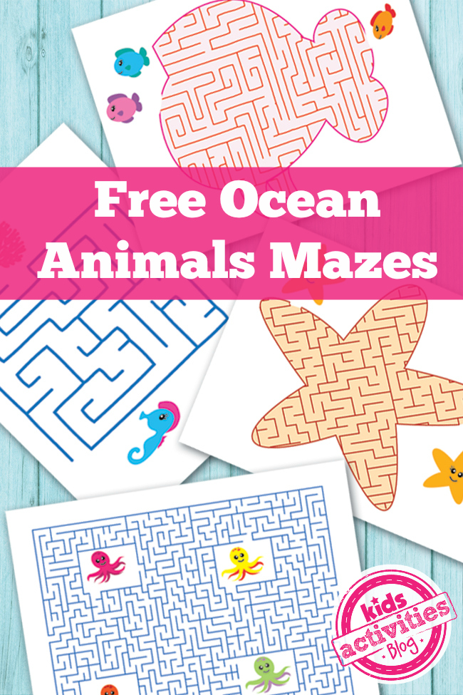 free ocean maze worksheets printables 4 mom. Black Bedroom Furniture Sets. Home Design Ideas