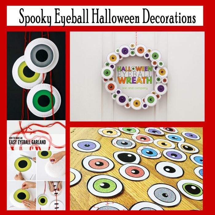 Spooky Eyeball Halloween Decor Free Printables