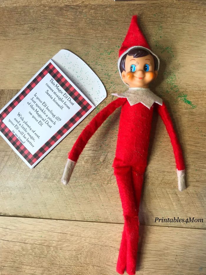 Elf on a Shelf Magic Dust Free Printable
