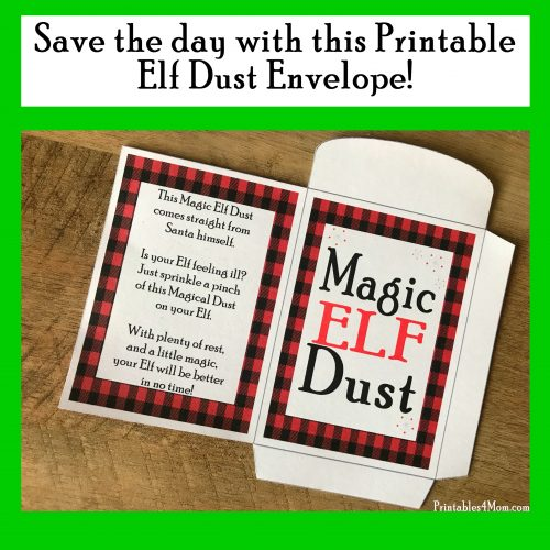 Elf on the Shelf Magic Dust Printable