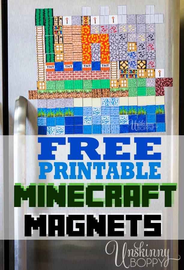 Diy Minecraft Magnets Printables 4 Mom