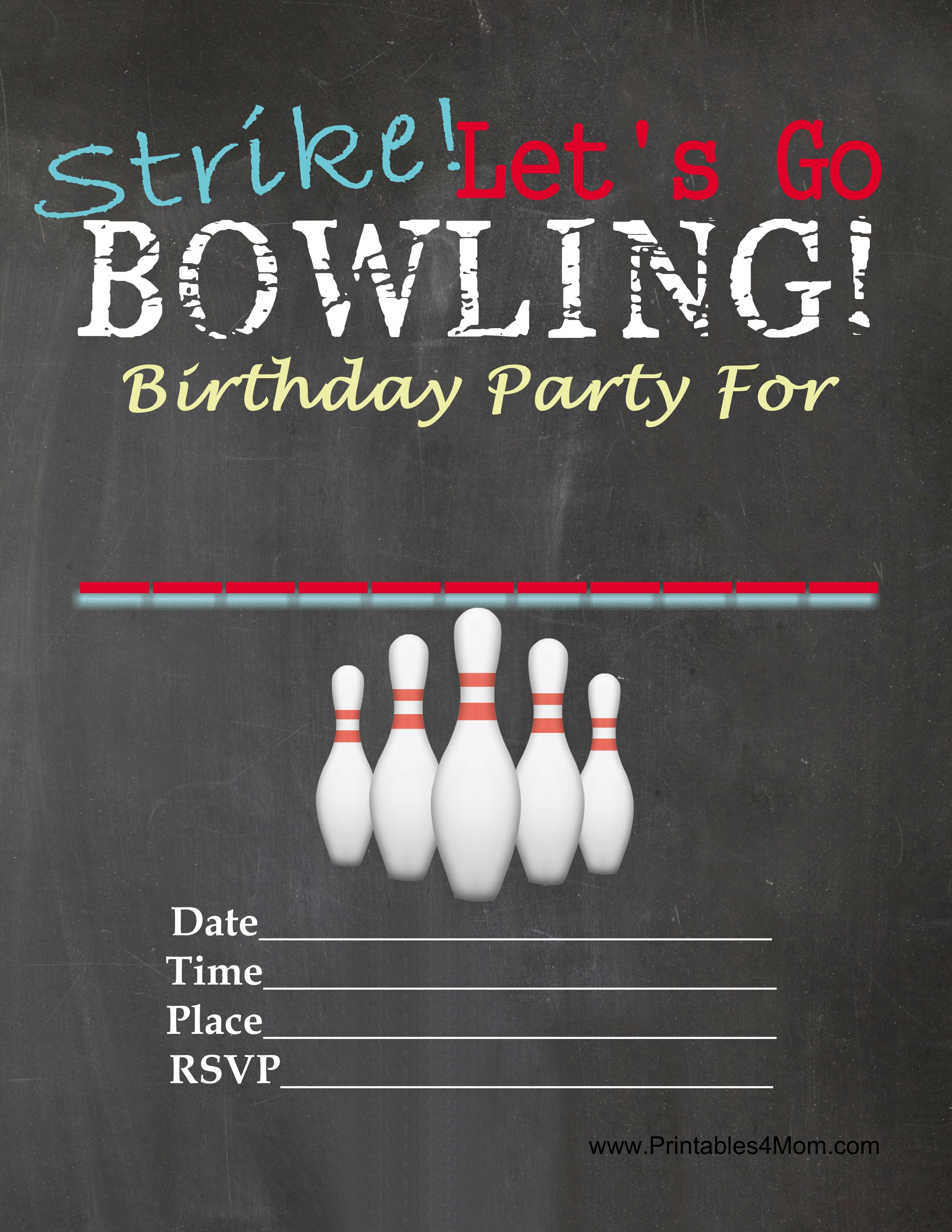It's just a graphic of Hilaire Free Printable Bowling Party Invitations