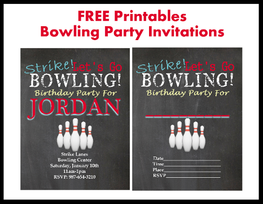 Free Bowling Party Printable Invitations