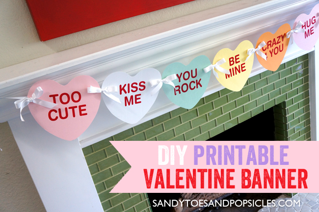 photograph regarding Valentine's Day Printable Decorations identify 10 Cost-free Printable Valentines Working day Banners - Printables 4 Mother