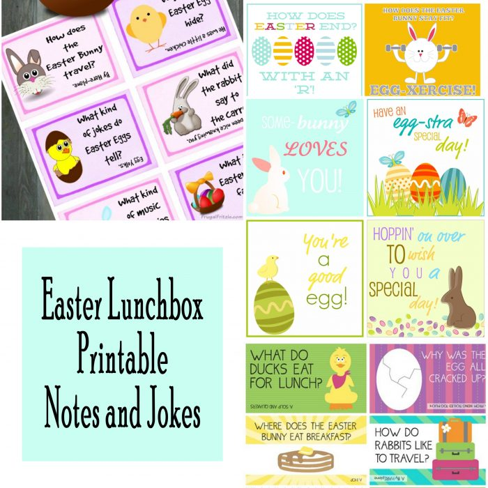 Easter Lunchbox Notes and Jokes Free Printables