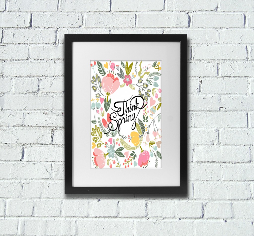 Wall art spring poster free printable