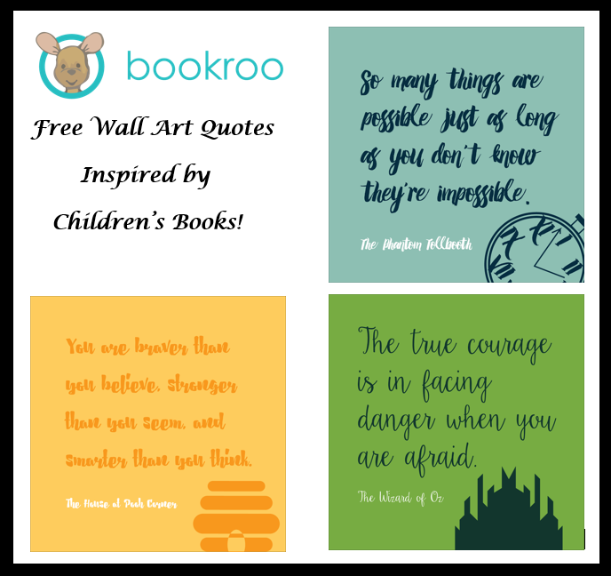 Wall Art Quotes Inspired by Children\'s Books - Printables 4 Mom