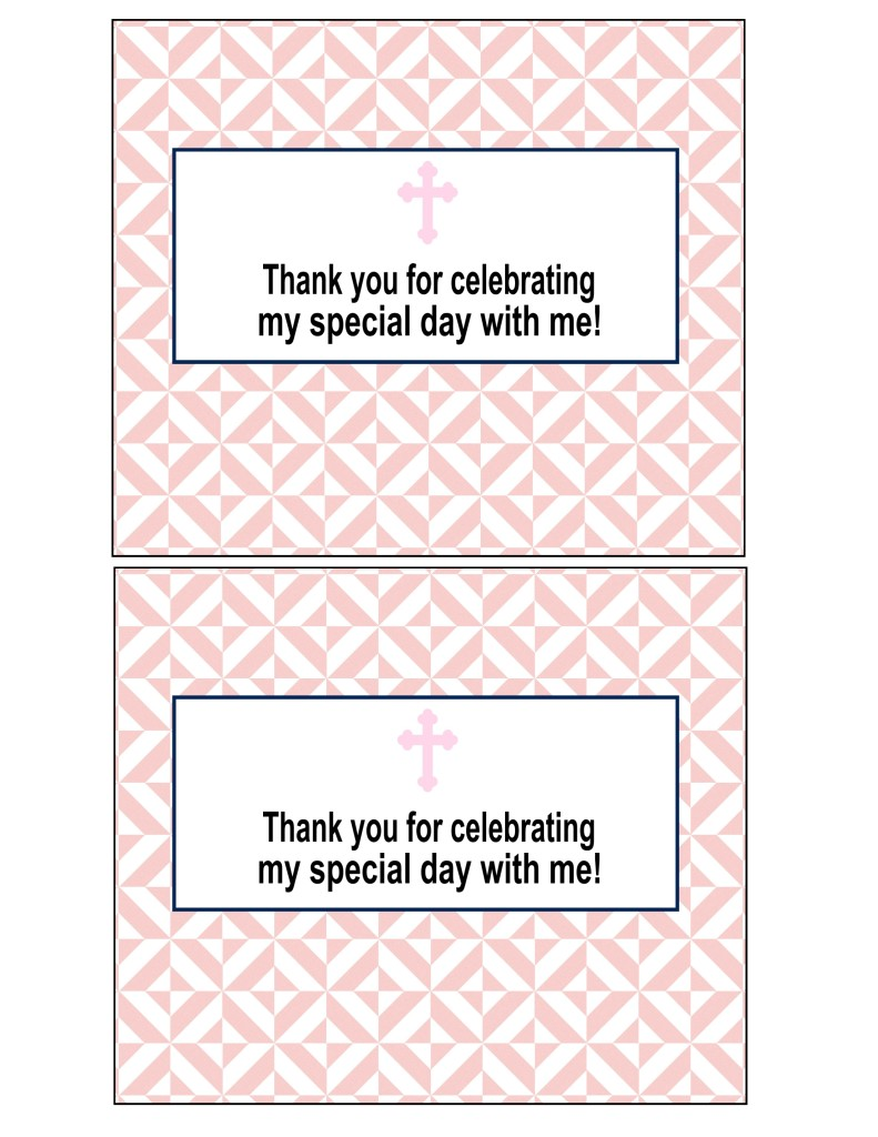 First Communion Candy Bar Wrapper