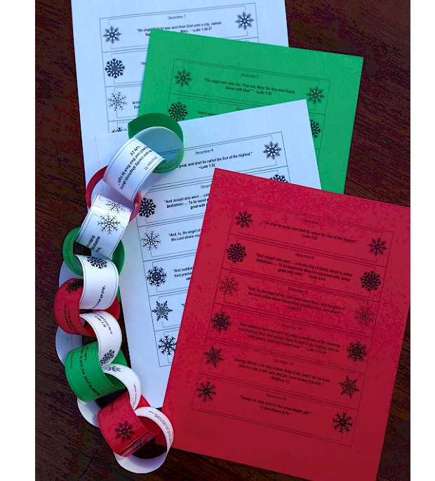 paper chain christmas advent printables 4 mom. Black Bedroom Furniture Sets. Home Design Ideas