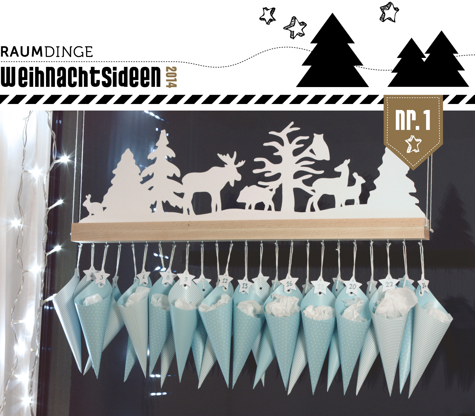 This Winter Forest Advent is from a German blog, so use Google ...