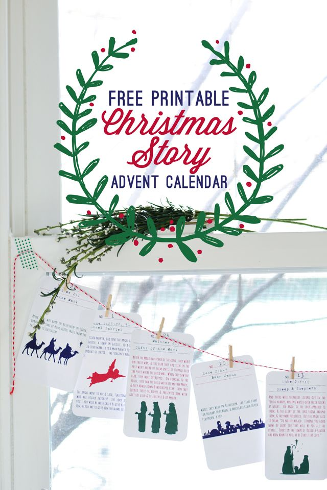christmas story printable advent calendar