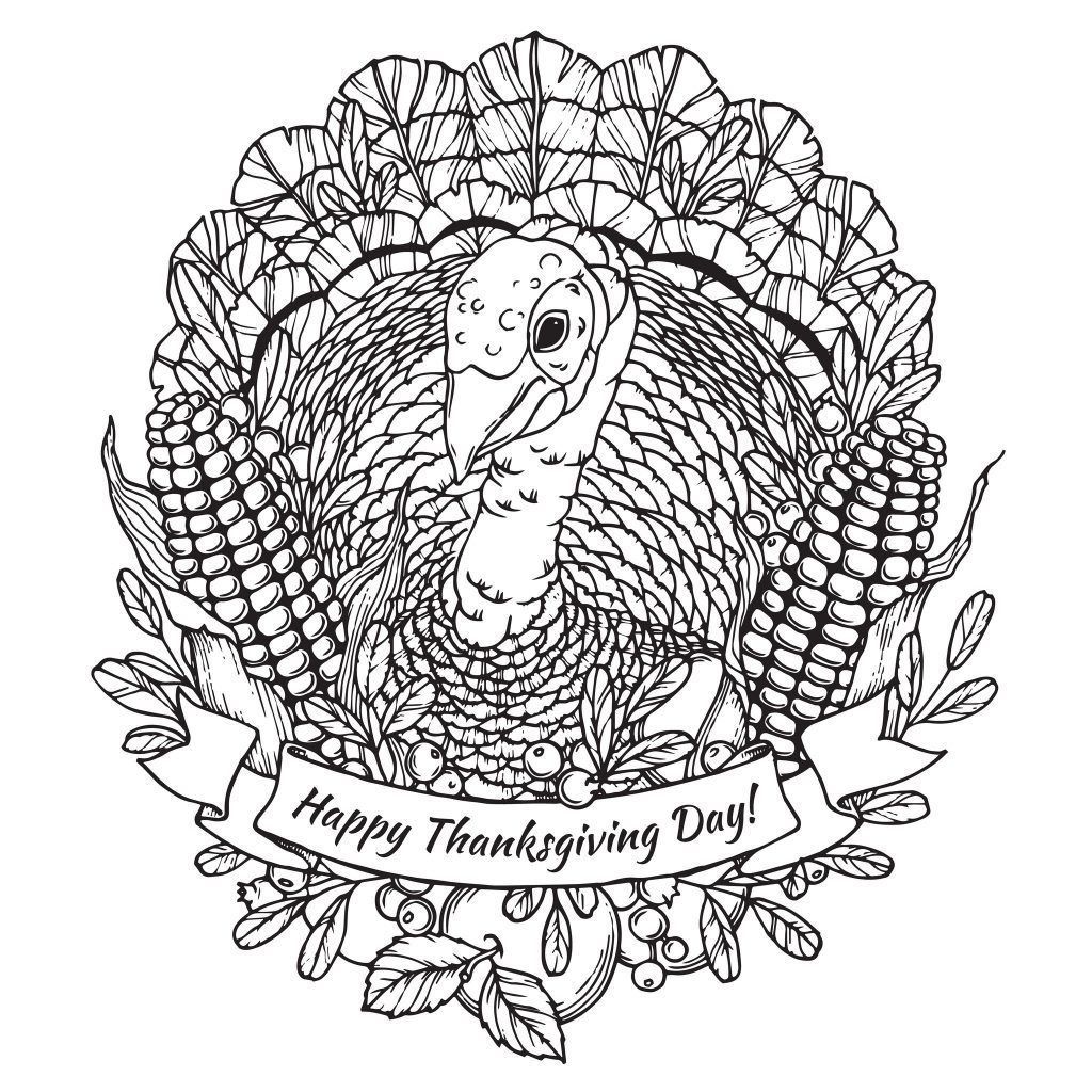 Thanksgiving Adult Coloring Pages - Printables 4 Mom