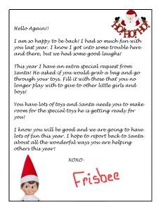 elf on the shelf free donation letter printable