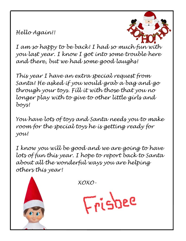 Intrepid image inside printable letters from elf on the shelf