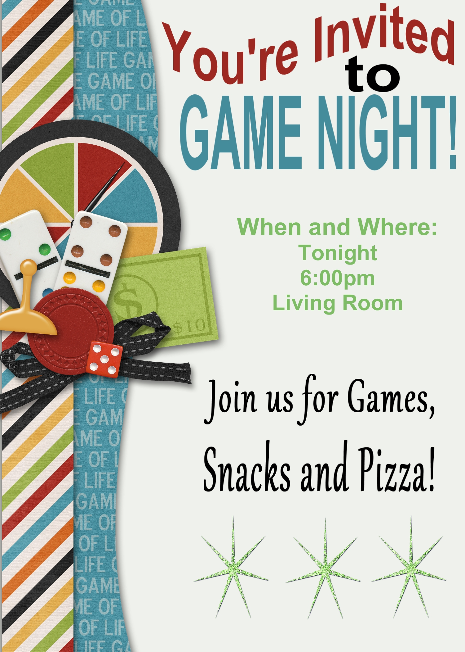 Game Night Printable Invitation And Game Review Printables 4 Mom