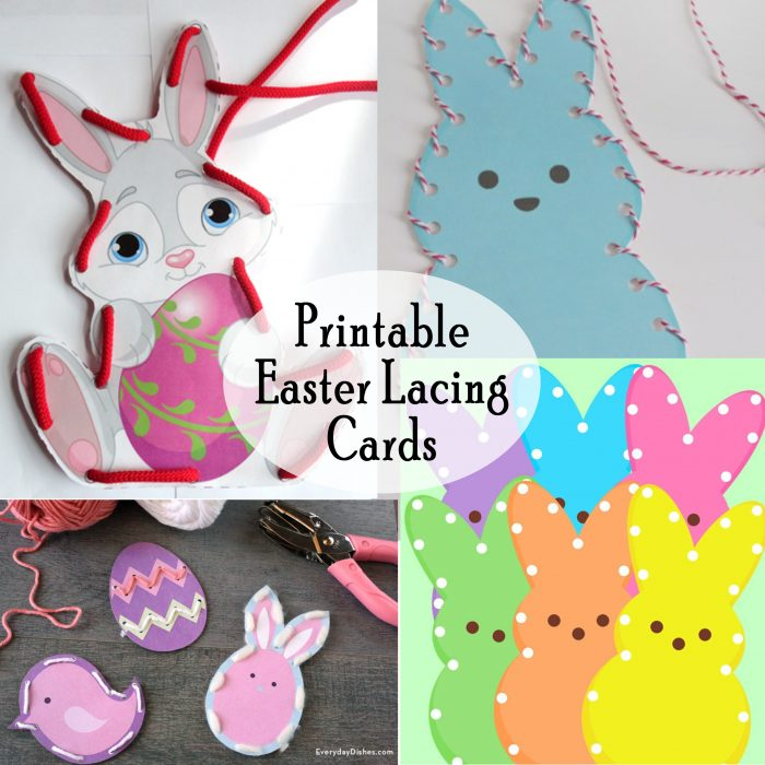 picture relating to Printable Lacing Cards named Easter Peep Lacing Playing cards and Buddies - Printables 4 Mother