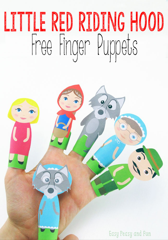 Little Red Riding Hood Finger Puppets  Printables 4 Mom