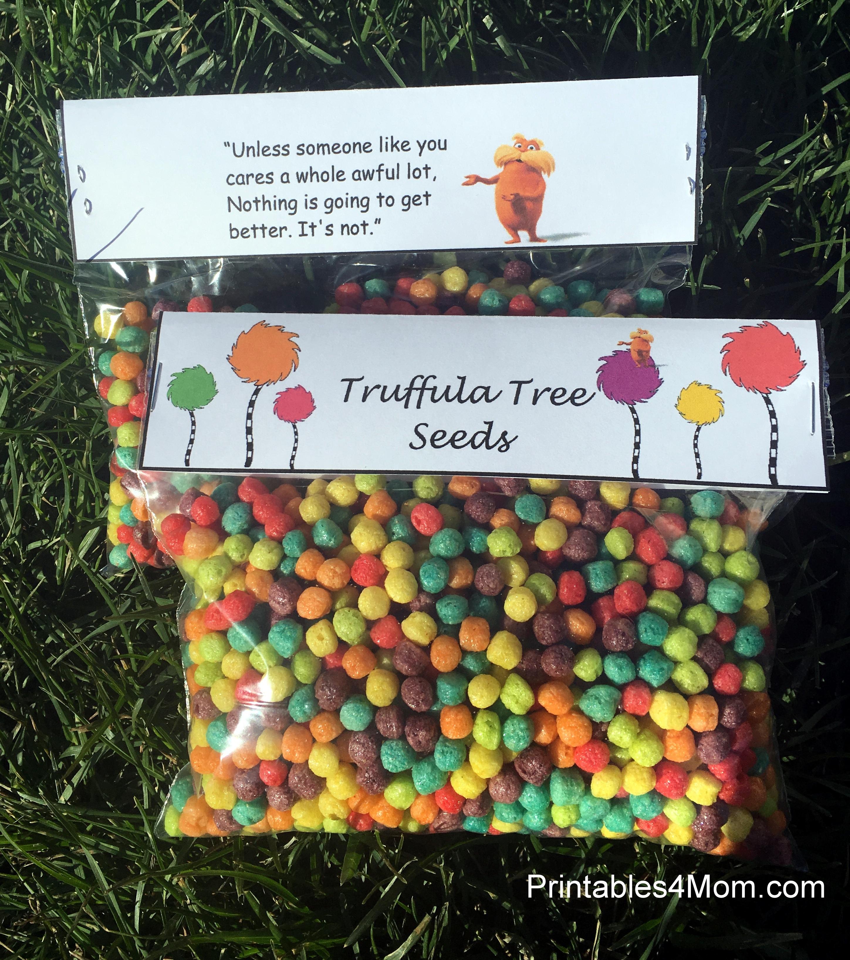 Breathtaking image within truffula seeds printable