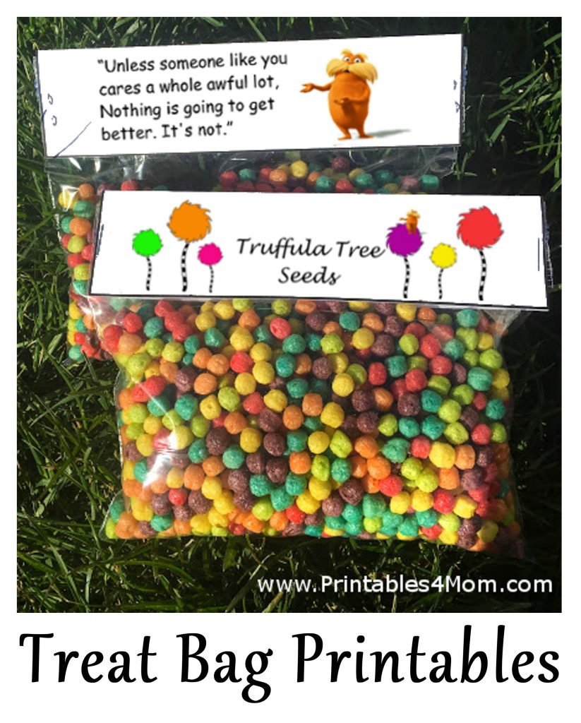 Truffula Tree Seeds Free Topper Printables 4 Mom