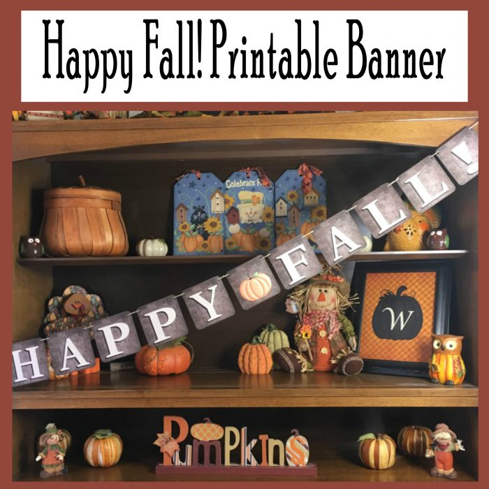 This is an image of Fall Banner Printable inside autumn