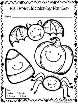 pre k halloween coloring pages | Halloween Freebie Activities, Count It and More ...
