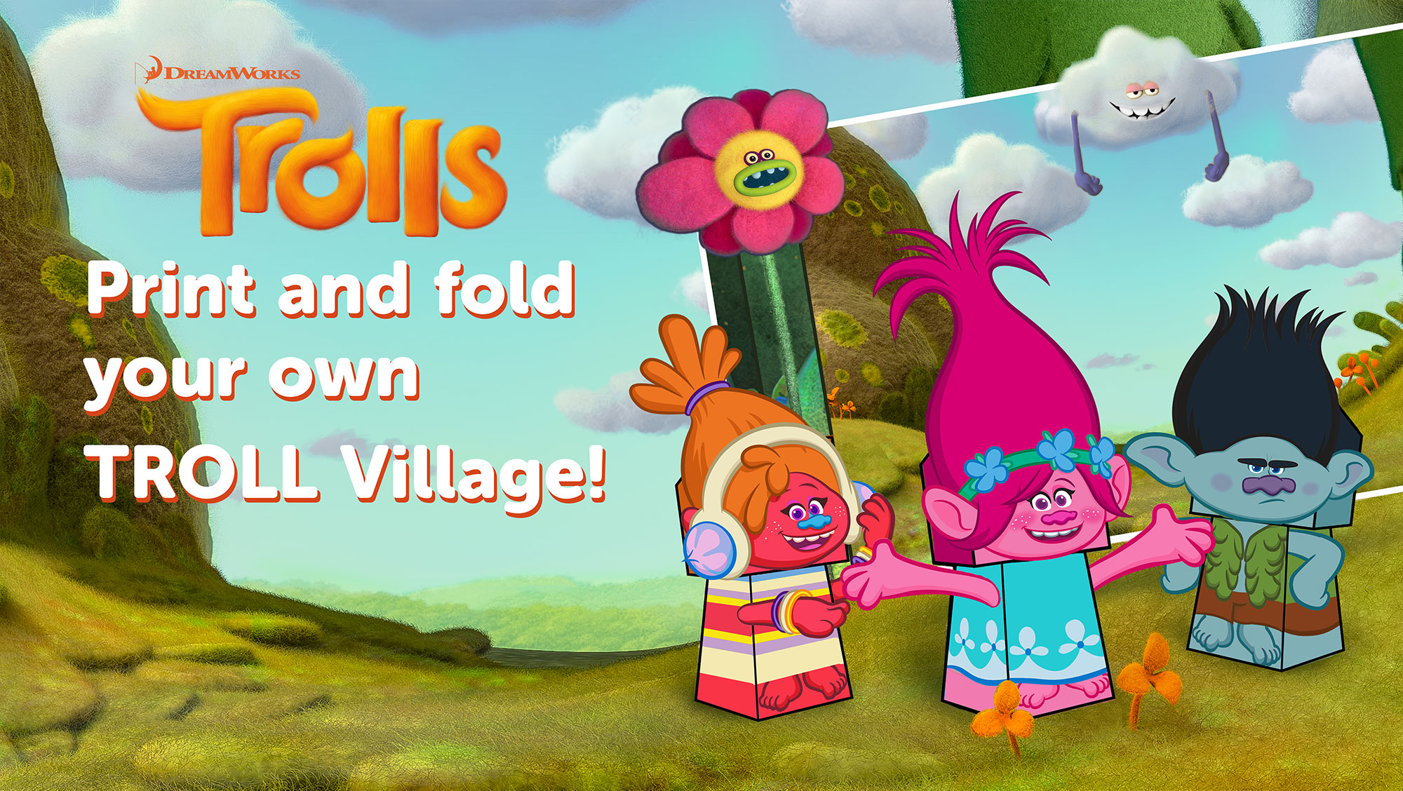 Trolls Village Printable Craft Printables 4 Mom