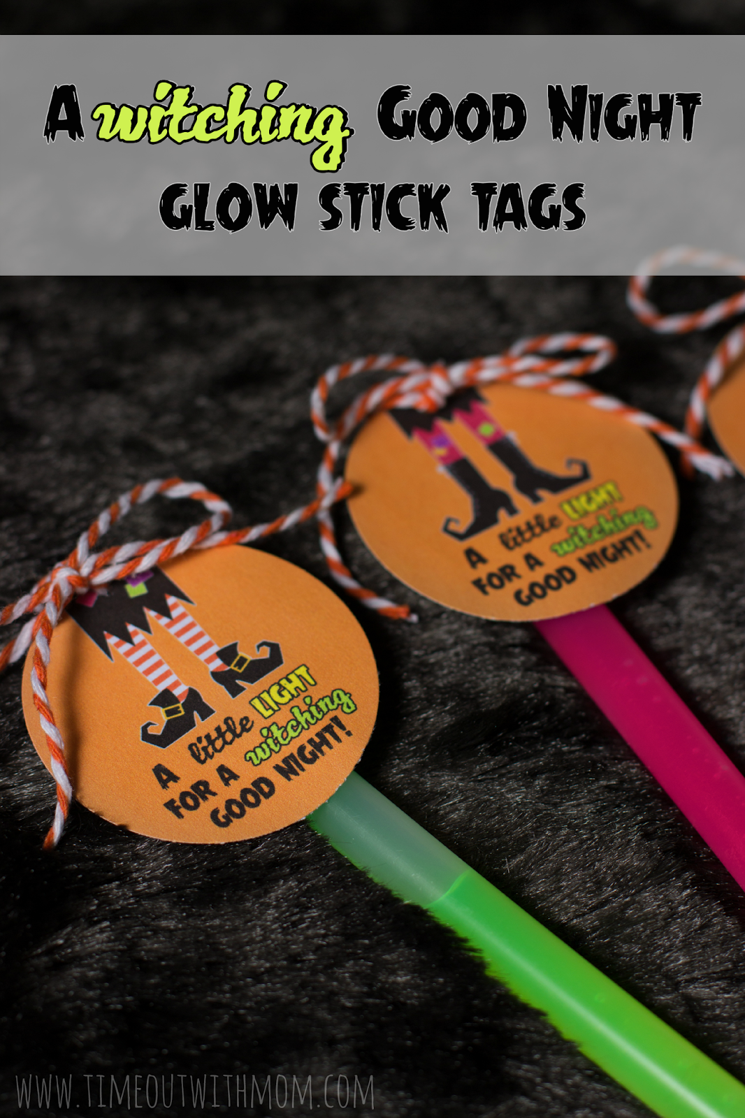 7 glow stick gift tags for halloween printables 4 mom a witching good night glow stick tags 01 negle Gallery