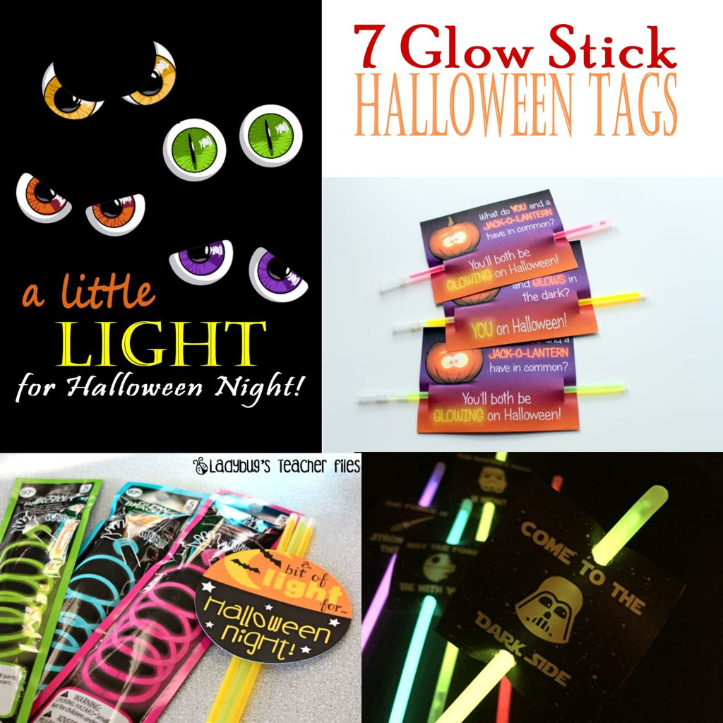 7 glow stick gift tags for halloween printables 4 mom 7 glow stick gift tags for halloween negle Choice Image