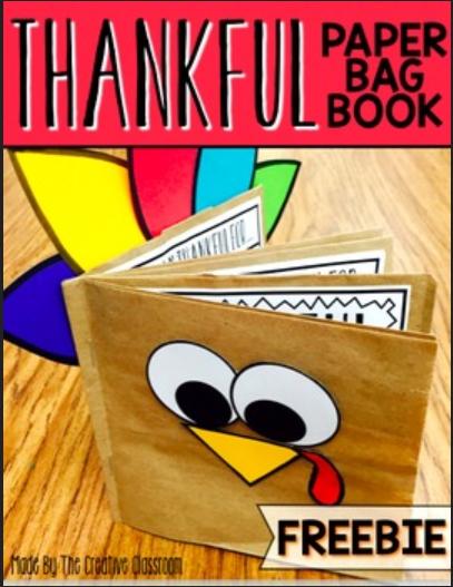 Thankful Paper Bag Turkey Book