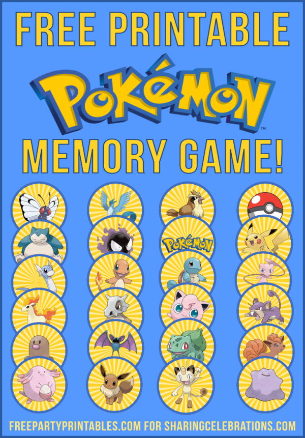 photo about Free Printable Pokemon named No cost-Printable-Pokemon-Memory-Video game-e1470863125409