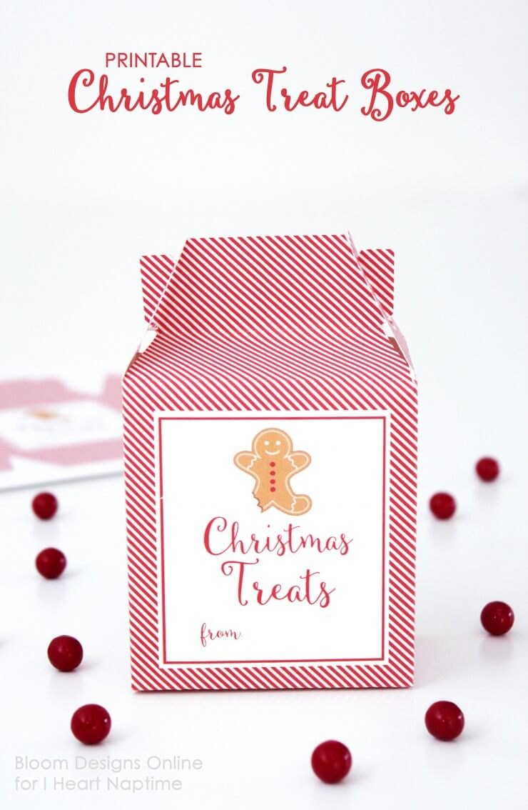8 DIY Christmas Favor Boxes with Printable Templates