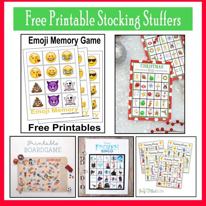 Blank Calendar Emoji : Free last minute printable stocking stuffer games