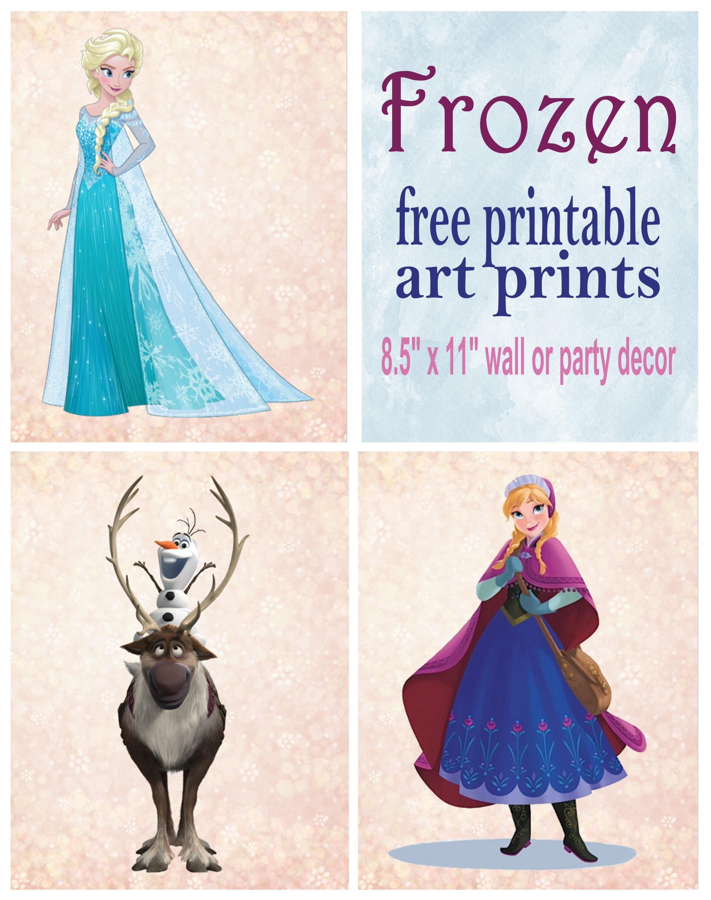 Frozen Printable Wall Art Decor Printables 4 Mom