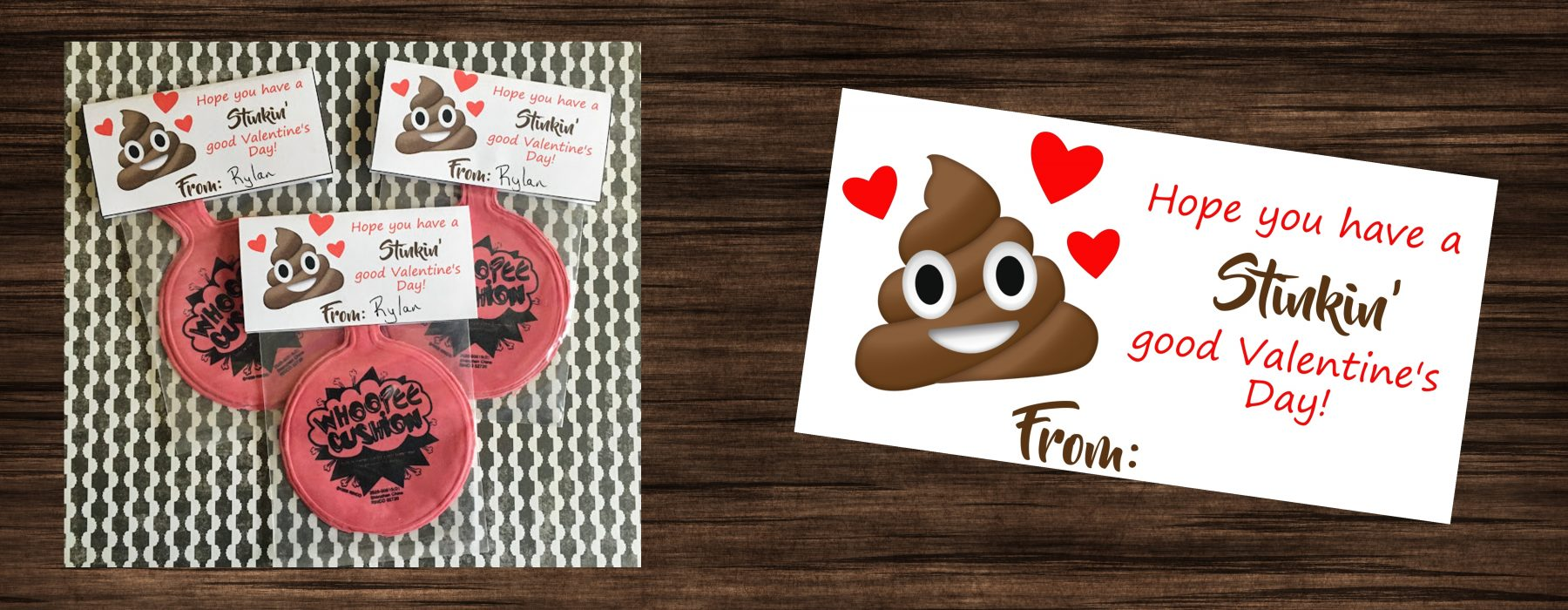 Poop Emoji Whoopee Cushion Valentine S Printables 4 Mom