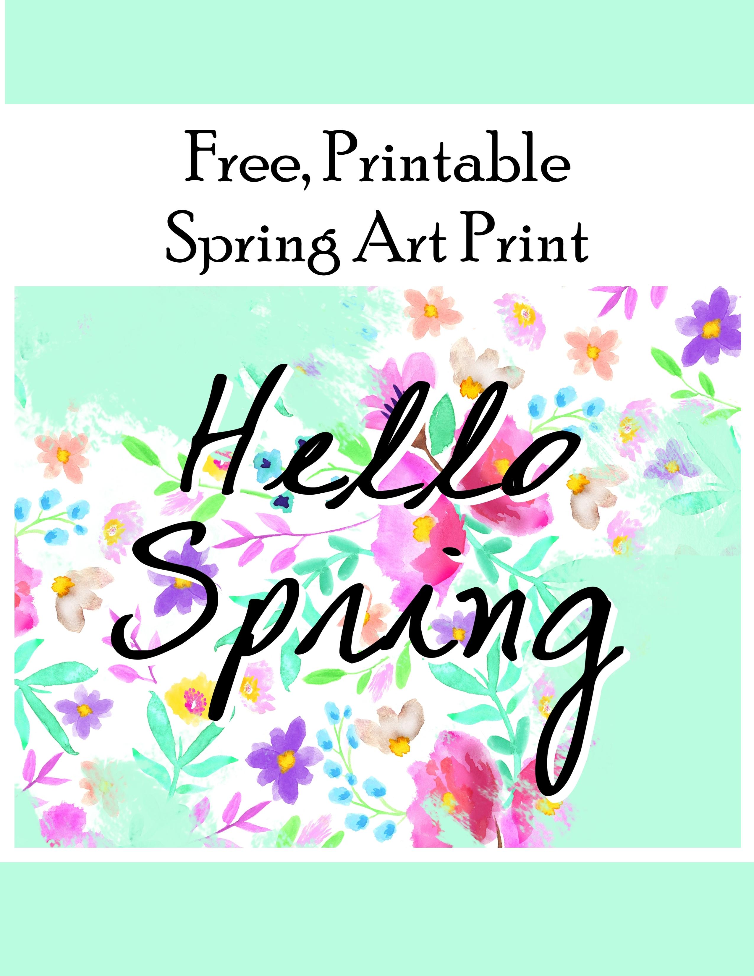 Hello Spring Flower Printable