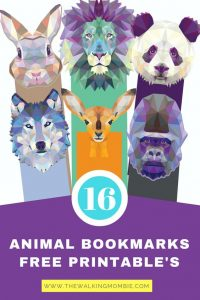 Animal bookmark printables